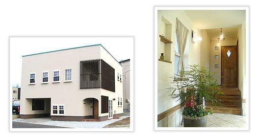外装も内装も細部までこだわったデザイン性の高いお宅です。